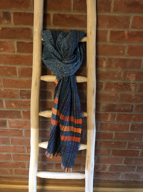 Stripe Scarf - Blue & Orange