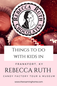 Rebecca Ruth is a fun chocolate candy factory tour for families with kids traveling to Frankfort Kentucky, a nice break from the Kentucky Bourbon Trail.