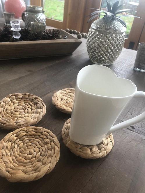 Water Hyacinth Coasters - Set of 4