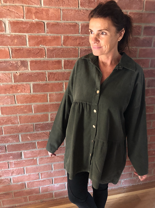 Corduroy Shirt - Khaki