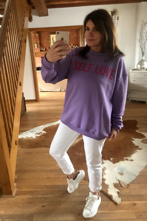 Self Love Sweatshirt - Purple
