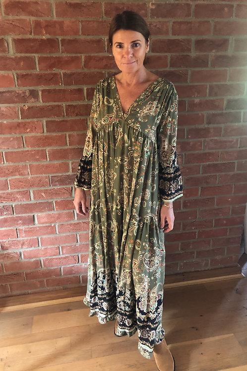 Paisley Dress - Khaki