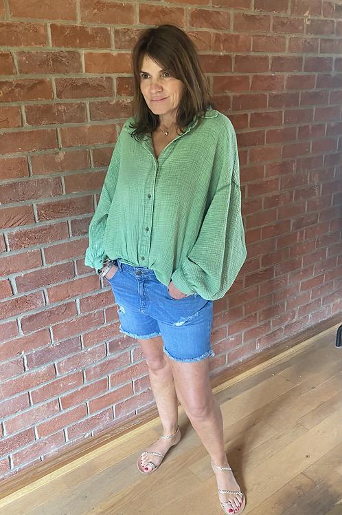 Oversized Blouse - Green