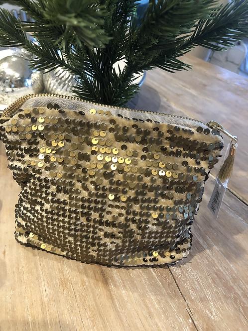 Gold Sparkle Make-up Bag