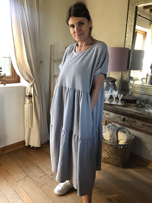 Olive Dress - Grey