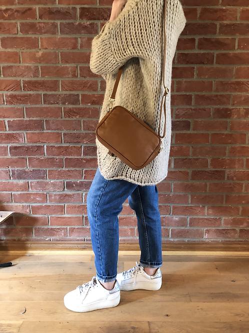 Leather Camera Bag - Tan