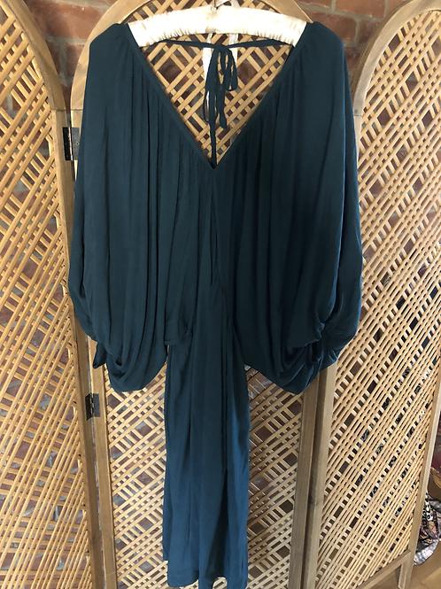 Draped Dress - Bottle Green