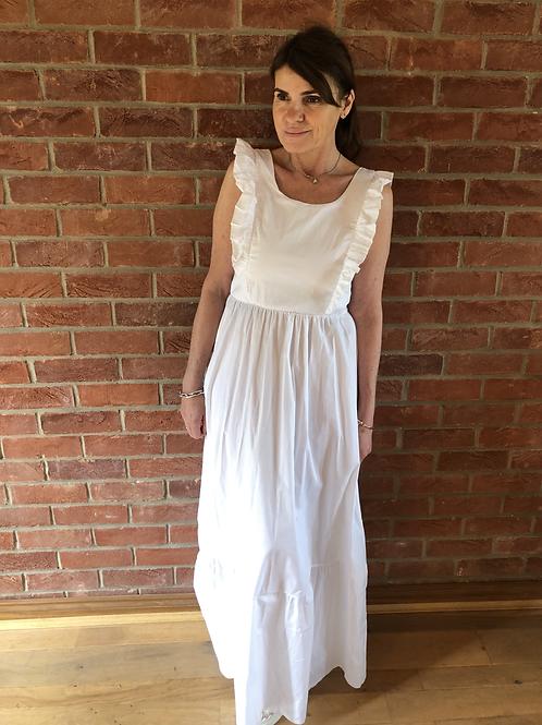 Frill Maxi Dress - White