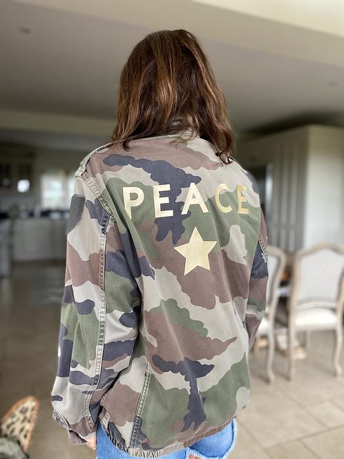 Vintage Camouflage Jacket - Peace