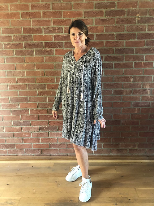 Leopard Print Dress - Pale Pink