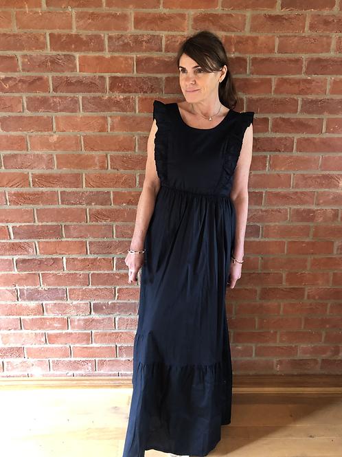 Frill Maxi Dress - Black