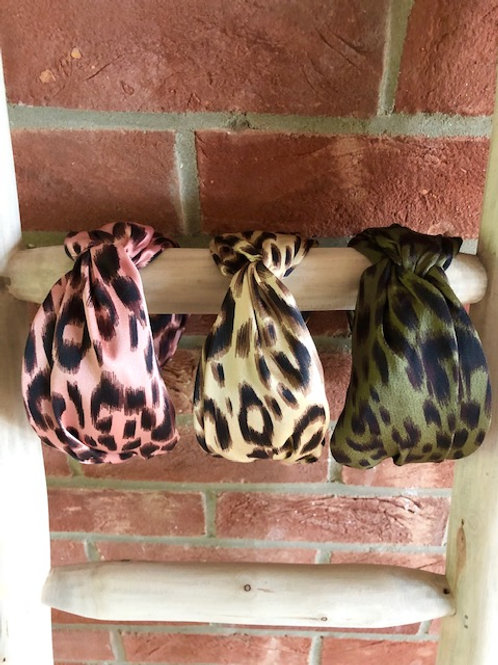 Wide Leopard Print Headband