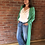 Thumbnail: Long Cardigan - Emerald Green