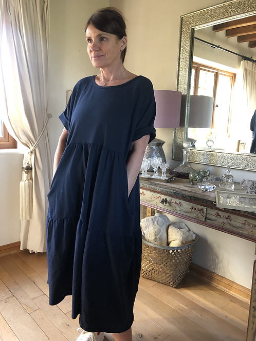 Olive Dress - Navy