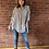 Thumbnail: Stripe Linen Shirt - Navy/Cream