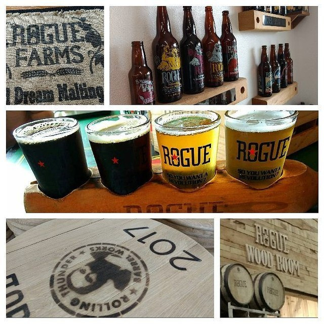 Pictures from our Rogue Brewery Tour in Newport, Oregon.  Great beer flight