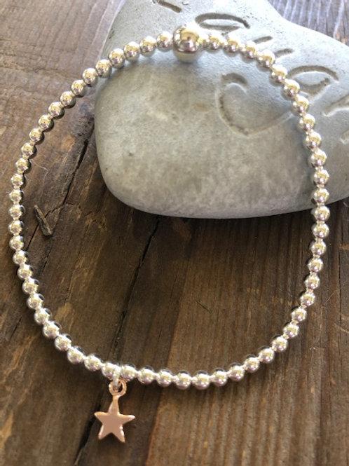 Mini Star Bracelet - Rose Gold