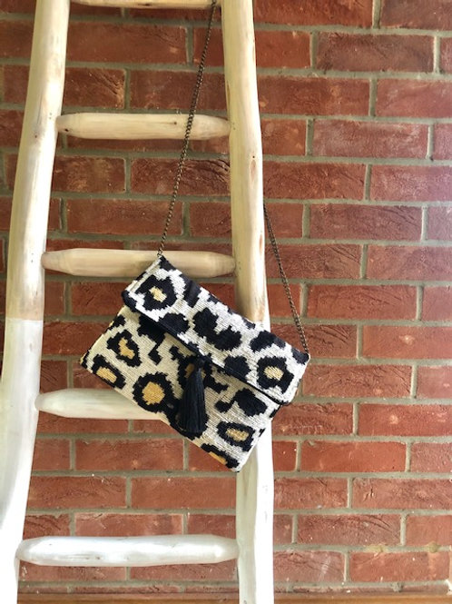 Silk Velvet Leopard Bag