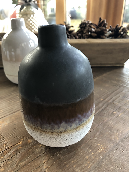 Mini Glaze Vase - Black