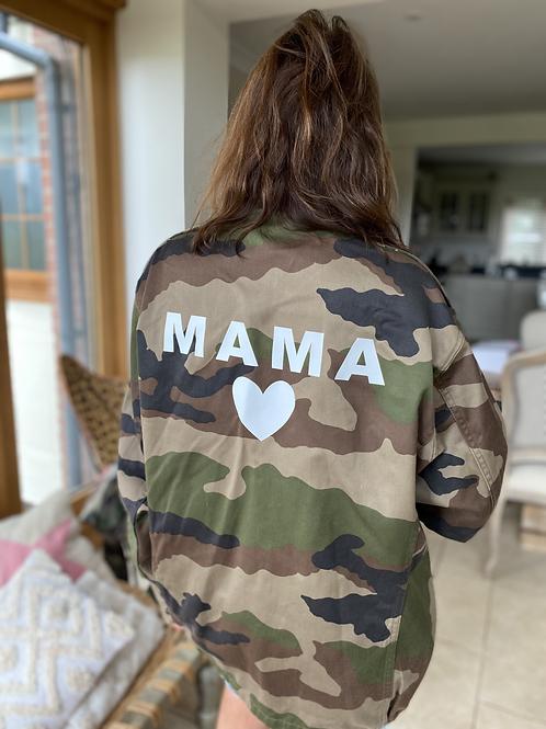 Vintage Camouflage Jacket - Mama