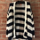 Thumbnail: Chunky Knit Stripe Cardi - Navy