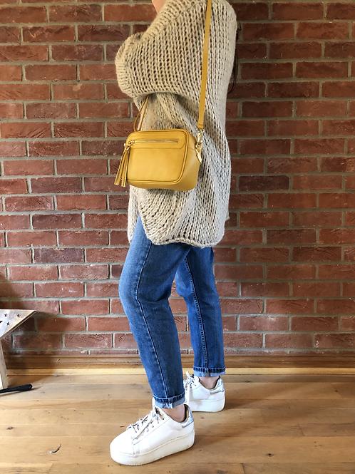 Leather Camera Bag - Mustard