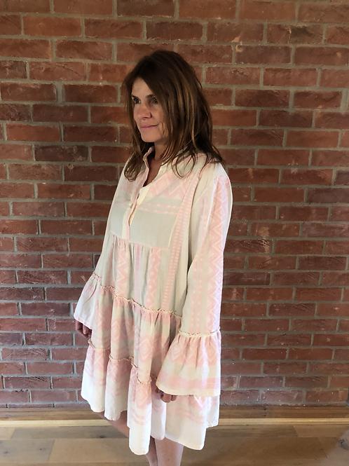 Short Aztec Dress - Pale Pink