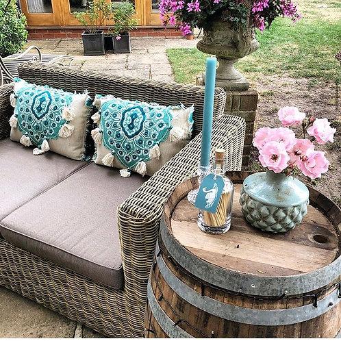 Tassel Cushion - Turquoise