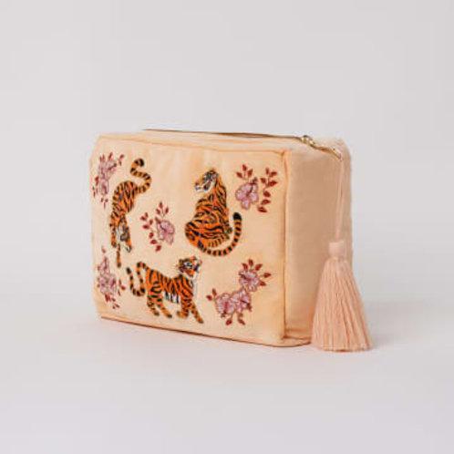 Elizabeth Scarlet - Apricot Tiger  Wash Bag