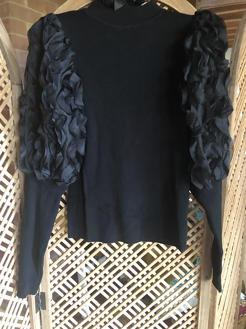 Ruffle Top - Black