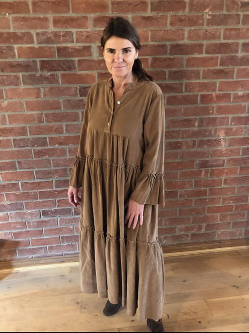 Long Corduroy Dress - Tan