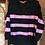 Thumbnail: Boyfriend Stripe Jumper - Black & Pink