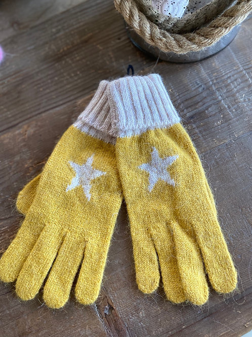 Star Gloves - Mustard