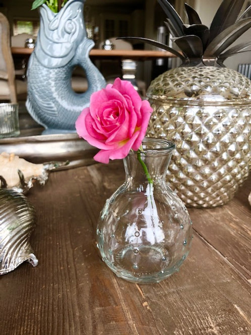 Dotty Glass Stem Vase