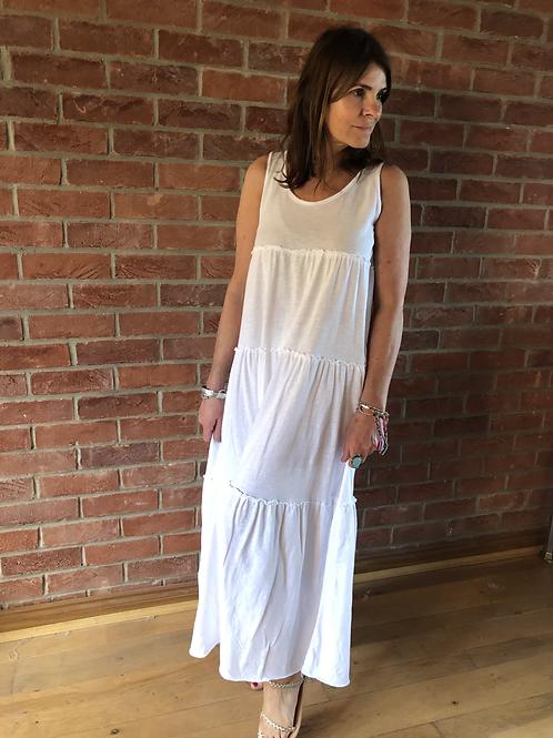 Jersey Maxi Dress - White
