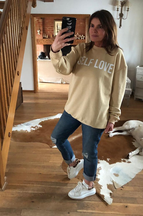 Self Love Sweatshirt - Caramel