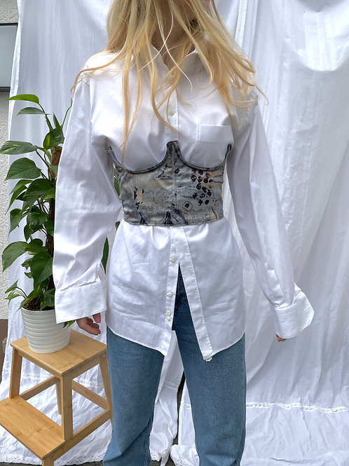 Reworked Pastel Underbust corset top, vintage, unique clothing store, independent fashion