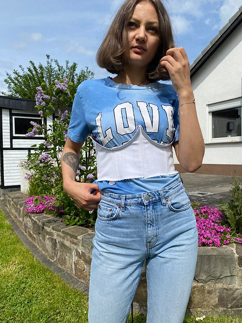 streetwear corset top, ripped denim corset, indie y2k aesthetic fashion store