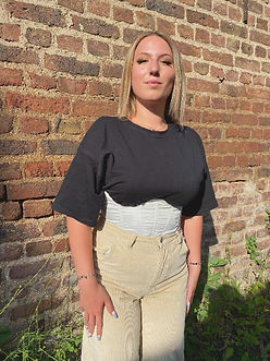 How to wear underbust corsets outfit, reworked vintage, upcycling kleidung