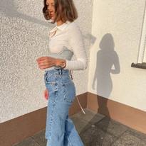 jeans underbust corset