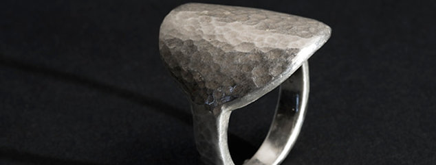 VOLUMES DISK RING. SILVER