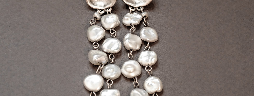 THINGS THAT HOLD. SILVER, KESHI PEARLS
