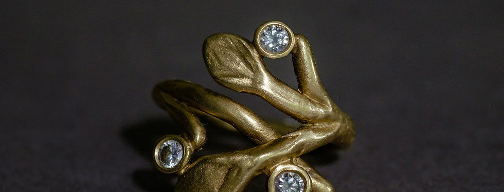"FLORA ""BRANCH"". GOLD, DIAMONDS"