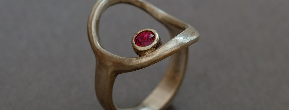 ORBITS. SILVER, SAPPHIRE OR RUBY