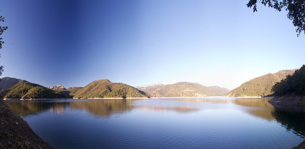 Panoramic view of the reservoir