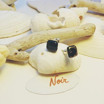 Boucles D'Oreilles • puce • Noir