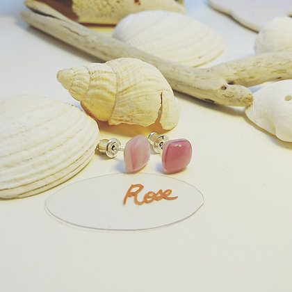 Boucles D'Oreilles • puce • Rose