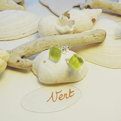 Boucles D'Oreilles • puce •Vert