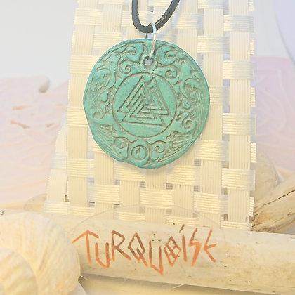 Viking• Valknut • Turquoise
