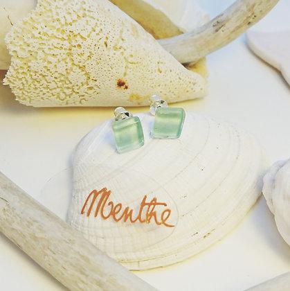 Boucles D'Oreilles • puce • Menthe